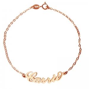 Bracelet Prénom-1 Prénom-Plaqué Or Rose