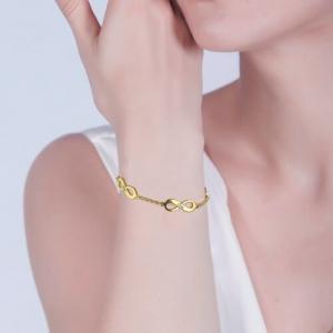 Bracelet Infini-3 Prénoms-Plaqué Or