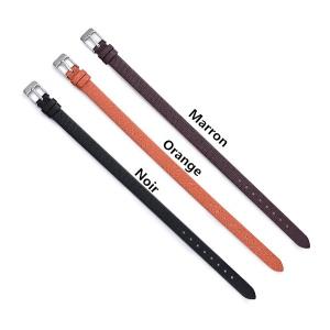 Bracelet Infini-1 Prénom-Argent-Ceinture Cuir